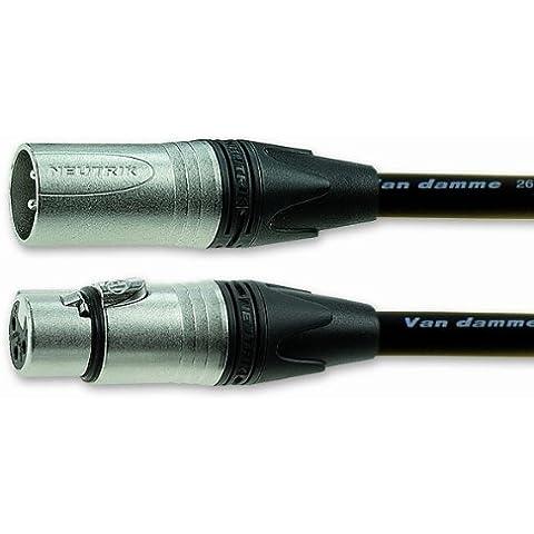 Van Damme 101-349-001 2 m plateado Mujer - Cable de conexión macho XLR Neutrik la estrella del patio de
