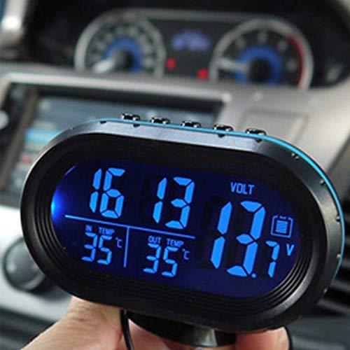 2 1 12 V / 24 V Digital Auto Car Thermometer + Voltímetro