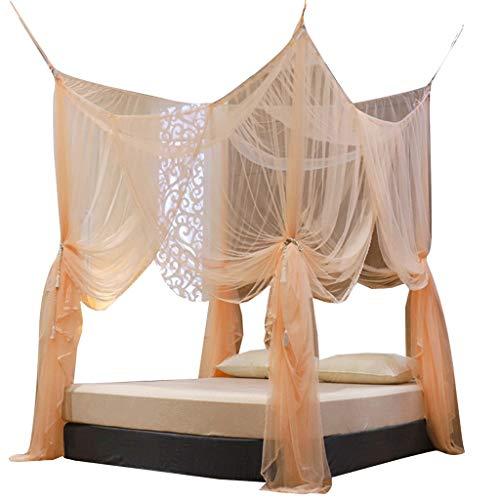 Liudan-Mosquiteras Dormitorio Creativo Simple encriptado Mosquito Net Estilo Europeo Tire de la Cuerda