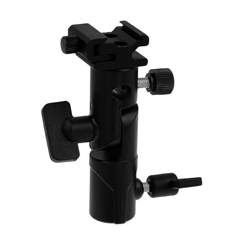 Fotodiox Elite Flash Umbrella Bracket-with Swivel/Tilt Head, Mountable to Light Stand and Tripod-Fits Nissin Flash Di866, Di622, Di466, PZ400