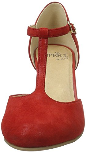 Caprice Damen 24400 T-Spange Rot (Red Suede)