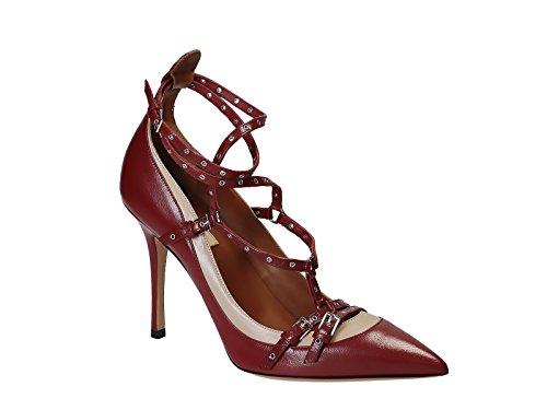 Chaussures à talon Valentino en cuir Rouge vif - Code modèle: JW2S0943 CCC S39 Rouge vif