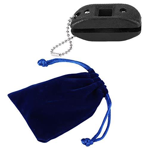 Keenso Schlittschuhe Messerschärfer, tragbare Schlittschuhe Messerschärfer Schleifstein Schleifwerkzeug & eine Tasche schwarz