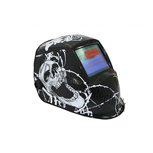 Automatik Schweißhelm Design: Skull mit Solarzelle + Batterie CR2032