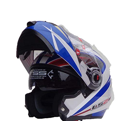 Flip Up Double Lens Casco da moto Interno Sun Visor Shield Modular Women Racing Protezioni per moto da motociclista Anti Fall Outdoor Casco da cross