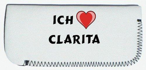 Brillenetui mit Ich liebe Clarita (Vorname/Zuname/Spitzname)