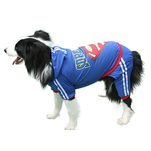 systong Pet Hund Vier Füßen Kleidung Freizeit Shirt für mittelgroße und große Hunde (Superman Dog Kostüm Große)
