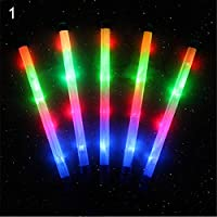 Gemini_mall 1pc LED Flashing Princess Star Heart Wand Magic Lights Up Glow Sticks Party Concert Christmas Light Up Toy for Kids Party Favour Party Bag Filler Gifts Xmas Stocking Fillers
