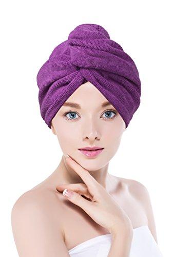 Towel Master Mikrofaser Turban Haar Handtuch Lila (Purple)