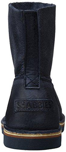 Shabbies Amsterdam Shabbies Ladies 16cm Booty Stitchdown Flat 1 Cm Matching Norfolk Sole Last Alissa, Bottes Classiques femme Bleu - Blau (Dark BLU)