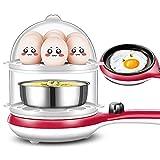 Cuoci Uova Sode Cuociuova Elettrico Bollitore per Uova Automatico Capacità 14 Uova Piatto Base Acciaio Inox Spegnimento Automatico