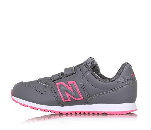 New Balance Kv500 Gey, Chaussures de Fitness Mixte enfant Gris/Fuchsia