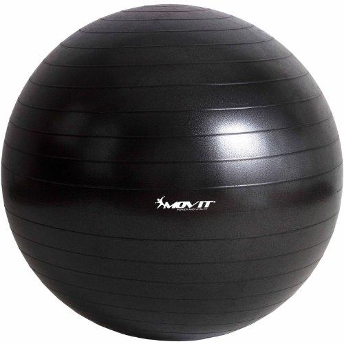 MOVIT Gymnastikball »Dynamic Ball« inkl. Fußpumpe, 85 cm, Schwarz, Maximalbelastbarkeit bis 500kg, berstsicher, Fitness-Ball, Sitzball, Yogaball, Pilates-Ball, Balance