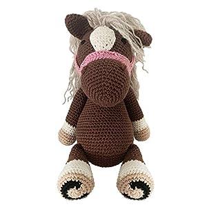 LOOP BABY gehäkeltes Pony Paule in braun – gehäkeltes großes Kuschelter für Babys/ Mädchen/ Jungen – Plüschtier Pferd…