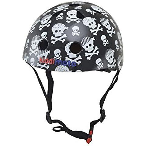 Kiddimoto - Accesorio para bicicleta Piccolo (Helmet 43_schwarz-weiß-2-5 years)