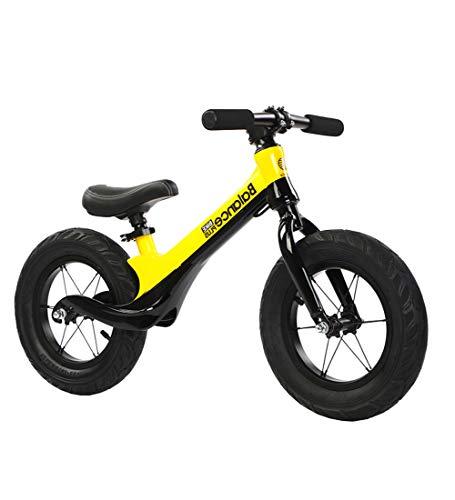 La Bici Bicicletta da Equilibrio Senza Pedali per Bambini 3-6 Anni per Bambino et Bambina, Bici Senza Pedali Bambini con12 Pollici Sportivo,Yellow