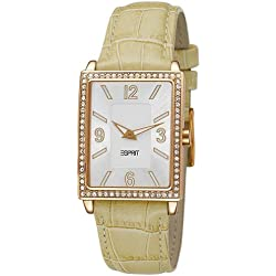 Esprit Clarity Wristwatch Women's, Leather, Band Colour Beige