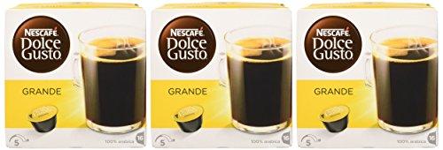 NESCAFÉ DOLCE GUSTO CREMA GRANDE Caffè lungo 3 confezioni da 16 capsule [48 capsule]