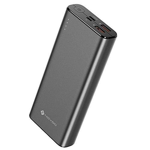 NOVOO 20000mAh Powerbank 3 Ausgänge USB C 18W Power Delivery & 2 Fast Charge USB-A Ports Power Bank für Handy iPhone 6 7 X 8 Plus XS XR Samsung Galaxy S8 S9 Huawei P20 iPad Switch 20000
