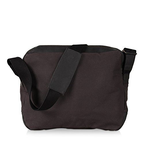Harold´s WAXCAN Zipperbag, Borsa a tracolla donna marrone blu scuro Nero (nero)