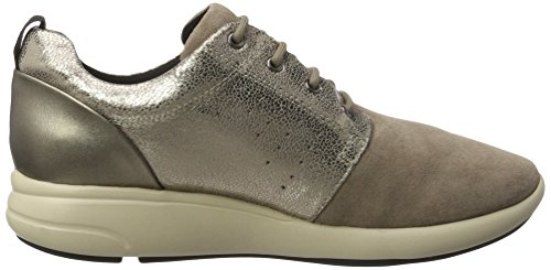 Geox D Ophira A, Sneakers Basses Femme Marron (Taupe)