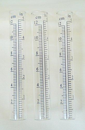 Unbekannt 3er Set Ersatzglas Regenmesser klein