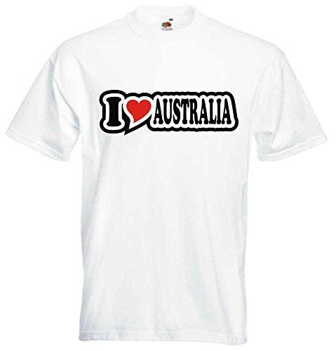 T-Shirt I Love Heart Herren I LOVE AUSTRALIA Weiß