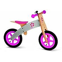 Janod 4503241 - Bicicleta sin pedales en madera de color rosa [Importado de Alemania]