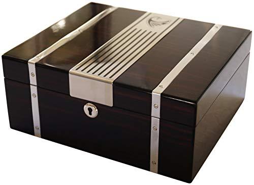 GERMANUS Zigarren Humidor Cowling mit Digital Hygrometer Kristall Befeuchter - Befeuchter Kristall