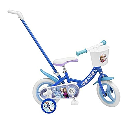 """Toimsa - 1027 - Vélo avec Canne Directionnelle - Fille - Frozen - 10"""""""