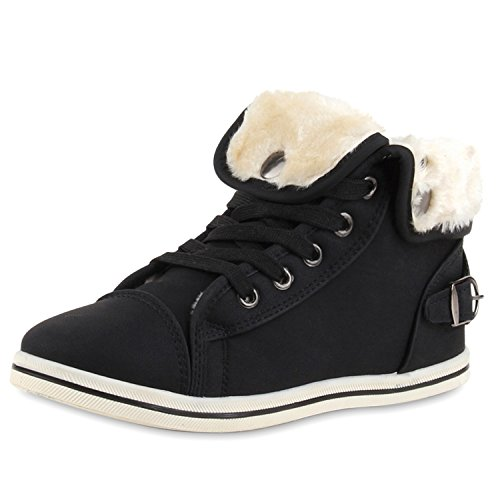 SCARPE VITA Women Sneaker high Warm Lined Synthetic Fur Buckle