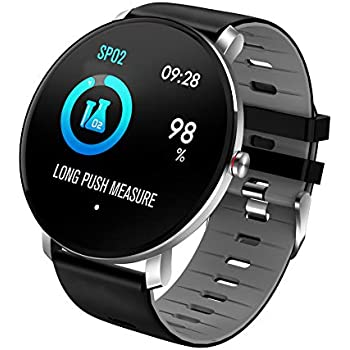 TDOR Oferta Cyber Monday Smartwatch con Whatsapp Hombre Mujer Reloj Deportivo, Color Negro/Gris