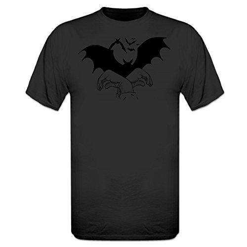 Bats Hand Shadow T-Shirt by Shirtcity