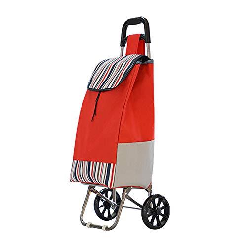 NA. Faltbarer tragbarer Lebensmittelgeschäftwarenkorb beweglicher Treppenautolaufkatze-Gepäckautoausgangsanhängerart und weiseeinkaufstascheauto,Red