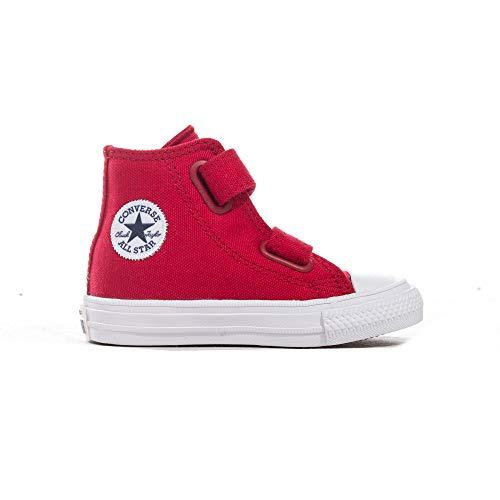 r All Star 2V Hi-Top Kleinkind Kinder Sneaker Schuh rot, Rot - rot - Größe: 39 EU ()