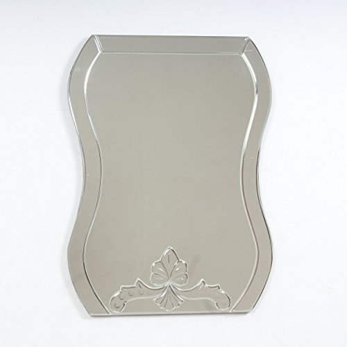 "Quality Glass Glass And MDF Decorative Wall Mirror (18""x24"", Silver, Asymmetric Shape) - B0798NYPXB"