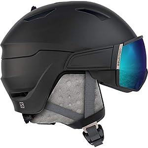 Salomon Damen Mirage S Ski- und Snowboardhelm, mit Visier, OTG-Lösung für Brillenträger, EPS 4D-Innenschaum