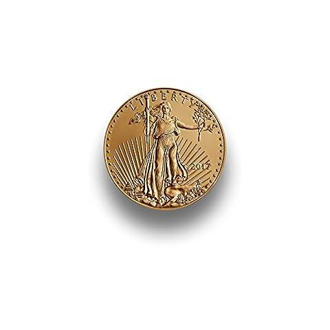 Goldmünze American Eagle 1/10 Unze - Jahrgang 2017 - Einzeln in Münzkapsel verpackt