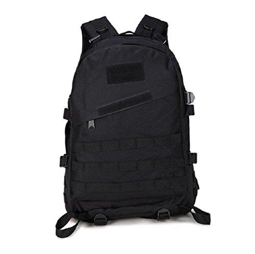 Minetom 40L Camouflage Tactical Rucksack Erwachsene Taktischer Militär Rucksäck Outdoor Oxford Leichtgewichtig Wanderrucksäcke Schwarz Einheitsgröße (Fantastisches Prom-kleid)