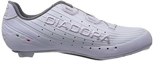 Diadora VORTEX-PRO Unisex-Erwachsene Radsportschuhe - Rennrad Weiß (white/white 6570)
