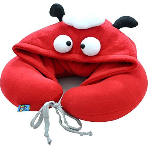 Admir Cartoon Nackenkissen Mit Hoodie, U-förmige Reise Kissen Nap-Kissen Portable Flugzeugkissen Haube Hat Unterstützung Kopf Hals-m (Fahr-hüte Für Männer)