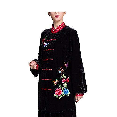 KIKIGOAL Verdickt Tai Chi Anzug für Damen aus Seide und Samt Kung Fu Uniformen Kampfsport Dicker Für Herbst und Winter (XL)