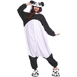 DarkCom de las Mujeres Kigurumi Pijama Unisex Anime Mamelucos Trajes de Halloween ropa de Dormir Nuevo Panda Medio
