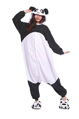 DarkCom Frauen Kigurumi Schlafanzug Unisex Anime Onesies Jumpsuits Halloween Nachtwäsche Neuen Panda Großen