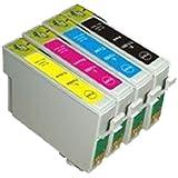 UCI EI T0611 T0614 [ 4 tinta = 1 x Set = BMCY ] Compatible tinta cartuchos reemplazo For EPSON Stylus D3850, D4200, D68, D68 PE, D88, D88plus, DX3800, DX3850, DX4200, DX4250, DX4800, DX4850, impresora, T0611 T0614, Black, Cyan, Magenta, Yellow, T0615,