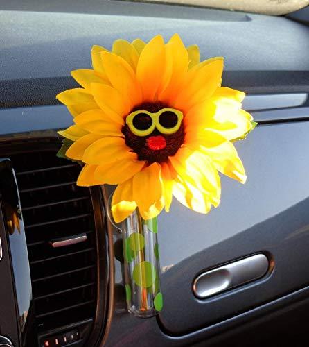 Bling My Bug Sonnenbrille mit Universalvase, Sonnenblumengrün