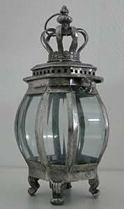 gartenlaterne windlicht krone metall leuchte windschutz kerze teelicht rustikal garten. Black Bedroom Furniture Sets. Home Design Ideas