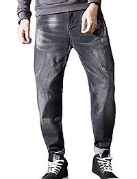7d120ea524e2 Celucke Tapered Jeans Herren Slim Fit, Männer Jeanshosen Coole Denim Hosen