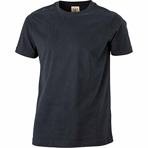 JAMES & NICHOLSON -  T-shirt - Basic - Maniche corte  - Uomo Nero