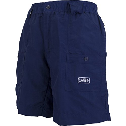 Aftco Bluewater M01L Long Traditional Fishing shorts -  rosso -  48 Navy Blue